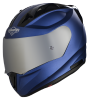 SA-1 Aeronautics Mat Y Blue With Anti-Fog Shield Silver Chrome Visor
