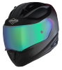 SA-1 Aeronautics Mat Black With Anti-Fog Shield Rainbow Chrome Visor