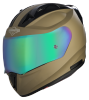 SA-1 Aeronautics Mat Desert Storm With Anti-Fog Shield Rainbow Chrome Visor