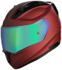 SA-1 Aeronautics Mat Maroon With Anti-Fog Shield Rainbow Chrome Visor
