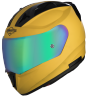 SA-1 Aeronautics Mat Moon Yellow With Anti-Fog Shield Rainbow Chrome Visor