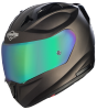 SA-1 Aeronautics Mat Royal Brown With Anti-Fog Shield Rainbow Chrome Visor