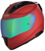 SA-1 Aeronautics Mat Sports Red With Anti-Fog Shield Rainbow Chrome Visor