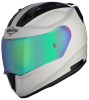SA-1 Aeronautics Mat White With Anti-Fog Shield Rainbow Chrome Visor