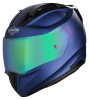 SA-1 Aeronautics Mat Y Blue With Anti-Fog Shield Rainbow Chrome Visor