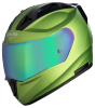 SA-1 Aeronautics Mat Y Green With Anti-Fog Shield Rainbow Chrome Visor