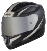 SA-1 WHIF Mat Black/Desert Storm With (Fitted With Clear Visor Extra Anti-Fog Shield Chrome Silver Visor Free)