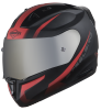 SA-1 WHIF Mat Black/Red ( Fitted With Clear Visor Extra Anti-Fog Shield Chrome Silver Visor Free)