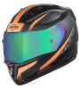 SA-1 WHIF Mat Black/Orange With (Fitted With Clear Visor Extra Anti-Fog Shield Chrome Rainbow Visor Free)
