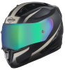 SA-1 WHIF Mat Black/Desert Storm With (Fitted With Clear Visor Extra Anti-Fog Shield Chrome Rainbow Visor Free)