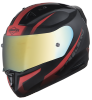 SA-1 WHIF Mat Black/Red (Fitted With Clear Visor Extra Anti-Fog Shield Chrome Gold Visor Free)