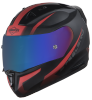 SA-1 WHIF Mat Black/Red (Fitted With Clear Visor Extra Anti-Fog Shield Chrome Blue Visor Free)