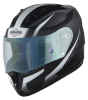 SA-1 WHIF Mat Black/White (Fitted With Clear Visor Extra Anti-Fog Shield Blue Night Vision Photochromic Visor Free)