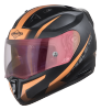 SA-1 WHIF Mat Black/Orange (Fitted With Clear Visor Extra Anti-Fog Shield Gold Night Vision Photochromic Visor Free)