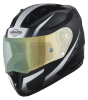 SA-1 WHIF Mat Black/White (Fitted With Clear Visor Extra Anti-Fog Shield Green Night Vision Photochromic Visor Free)