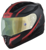 SA-1 WHIF Mat Black/Red (Fitted With Clear Visor Extra Anti-Fog Shield Green Night Vision Photochromic Visor Free)