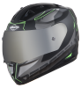 SA-1 RTW Mat Black/Green With Anti-Fog Shield Silver Chrome Visor(Fitted With Clear Visor Extra Silver Chrome Anti-Fog Shield Visor Free)