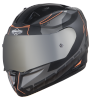 SA-1 RTW Mat Black/Orange With Anti-Fog Shield Silver Chrome Visor (Fitted With Clear Visor Extra Silver Chrome Anti-Fog Shield Visor Free)