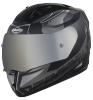 SA-1 RTW Mat Black/White With Anti-Fog Shield Silver Chrome Visor (Fitted With Clear Visor Extra Silver Chrome Anti-Fog Shield Visor Free)