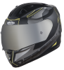 SA-1 RTW Mat Black/Yellow With Anti-Fog Shield Silver Chrome Visor(Fitted With Clear Visor Extra Silver Chrome Anti-Fog Shield Visor Free)