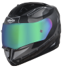 SA-1 RTW Mat Black/White With Anti-Fog Shield Rainbow Chrome Visor(Fitted With Clear Visor Extra Rainbow Chrome Anti-Fog Shield Visor Free)