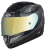SA-1 RTW Mat Black/White With Anti-Fog Shield Gold Chrome Visor(Fitted With Clear Visor Extra Gold Chrome Anti-Fog Shield Visor Free)