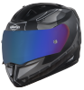 SA-1 RTW Mat Black/White With Anti-Fog Shield Blue Chrome Visor(Fitted With Clear Visor Extra Blue Chrome Anti-Fog Shield Visor Free)