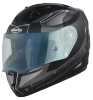 SA-1 RTW Mat Black/White With Anti-Fog Shield Blue Night Vision Visor(Fitted With Clear Visor Extra Blue Night Vision Anti-Fog Shield Visor Free)