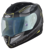 SA-1 RTW Mat Black/Yellow With Anti-Fog Shield Blue Night Vision Visor (Fitted With Clear Visor Extra Blue Night Vision Anti-Fog Shield Visor Free)