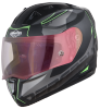 SA-1 RTW Mat Black/Green With Anti-Fog Shield Gold Night Vision Visor(Fitted With Clear Visor Extra Gold Night Vision Anti-Fog Shield Visor Free)