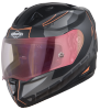SA-1 RTW Mat Black/Orange With Anti-Fog Shield Gold Night Vision Visor(Fitted With Clear Visor Extra Gold Night Vision Anti-Fog Shield Visor Free)