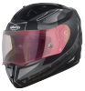 SA-1 RTW Mat Black/White With Anti-Fog Shield Gold Night Vision Visor(Fitted With Clear Visor Extra Gold Night Vision Anti-Fog Shield Visor Free)