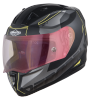 SA-1 RTW Mat Black/Yellow With Anti-Fog Shield Gold Night Vision Visor(Fitted With Clear Visor Extra Gold Night Vision Anti-Fog Shield Visor Free)