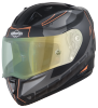 SA-1 RTW Mat Black/Orange With Anti-Fog Shield Green Night Vision Visor(Fitted With Clear Visor Extra Green Night Vision Anti-Fog Shield Visor Free)