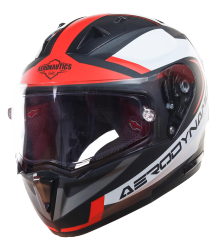 SA-1 Aerodynamics Mat Black/Red With Anti-Fog Shield Clear Visor