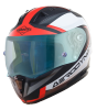 SA-1 Aerodynamics Mat Black/Red With Anti-Fog Shield Blue Night Vision Visor (Fitted With Clear Visor Extra Blue Night Vision Anti-Fog Shield Visor Free)