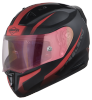 SA-1 WHIF Mat Black/Red (Fitted With Clear Visor Extra Anti-Fog Shield Night Vision Gold Visor Free)
