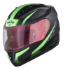 SA-1 WHIF Mat Black/Green (Fitted With Clear Visor Extra Anti-Fog Shield Night Vision Gold Visor Free)