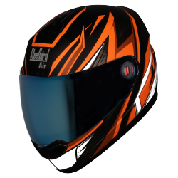 SBA-1 THRYL Mat Black With Orange ( Fitted With Clear Visor Extra Blue Chrome Visor Free)