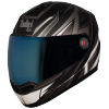 SBA-1 THRYL Mat Black With Grey ( Fitted With Clear Visor Extra Blue Chrome Visor Free)
