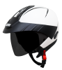 SB-33 ARM Reflective Dashing White With Peak (With Extra Free Clear Visor)