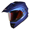 SB-42 Turf Single Visor Mat Y.Blue With Gold Night Vision Visor (With Extra Clear Visor)