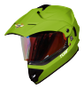 SB-42 Turf Single Visor Mat Y.Green With Gold Night Vision Visor (With Extra Clear Visor)