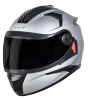 SBH-17 OPT MAT SILVER (WITH EXTRA FREE CABLE LOCK AND CLEAR VISOR)