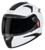 SBH-17 OPT MAT WHITE (WITH EXTRA FREE CABLE LOCK AND CLEAR VISOR)