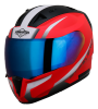 SA-1 WHIF GLOSSY FLUO WATERMELON WITH WHITE  CHROME BLUE VISOR (WITH EXTRA FREE CLEAR VISOR)