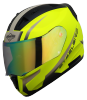 SA-1 WHIF GLOSSY FLUO NEON WITH DESERT STORM NIGHT VISION GREEN VISOR (WITH EXTRA FREE CLEAR VISOR)