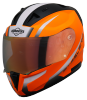 SA-1 WHIF GLOSSY FLUO ORANGE WITH WHITE NIGHT VISION GOLD VISOR (WITH EXTRA FREE CLEAR VISOR)