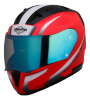 SA-1 WHIF GLOSSY FLUO WATERMELON WITH WHITE NIGHT VISION BLUE VISOR (WITH EXTRA FREE CLEAR VISOR)