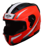 SA-1 WHIF GLOSSY FLUO RED WITH WHITE PHOTOCHROMIC VISOR